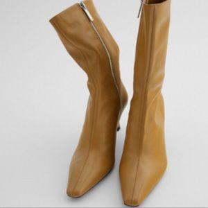 Zara Sz 36 Camel Ankle Boot